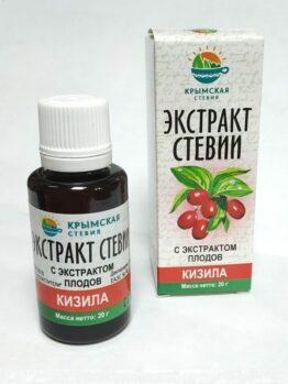 Экстракт стевии с экстрактом плодов кизила